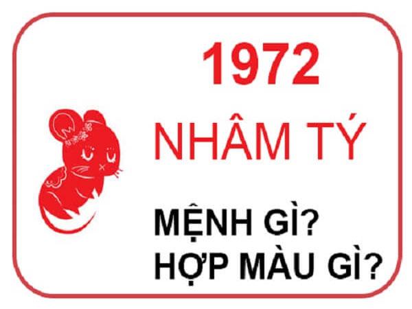 Những người sinh năm 1972 hợp hướng nào? hợp đeo đá màu gì?