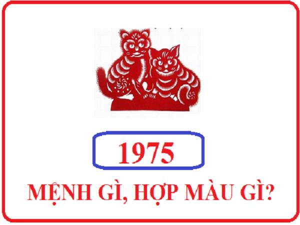 Những người sinh năm 1975 hợp hướng nào? hợp đeo đá màu gì?