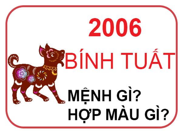 Người sinh năm 2006 mệnh nào? hợp hướng nào? hợp đeo đá màu gì?
