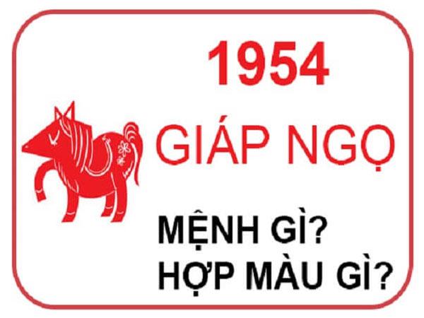 Người sinh năm 1954 mệnh nào? hợp hướng nào? hợp đeo đá màu gì?