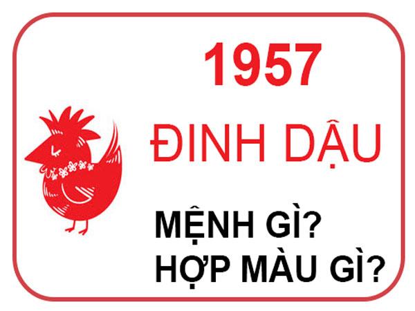 Người sinh năm 1957 mệnh nào? hợp hướng nào? hợp đeo đá màu gì?