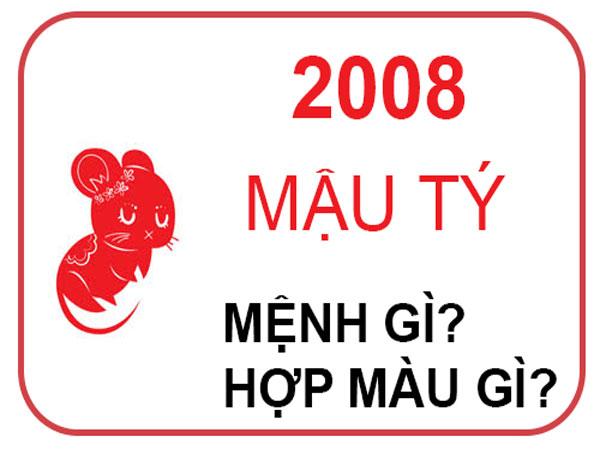 Người sinh năm 2008 mệnh nào? hợp hướng nào? hợp đeo đá màu gì?