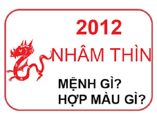 Người sinh năm 2012 mệnh nào? hợp hướng nào? hợp đeo đá màu gì?