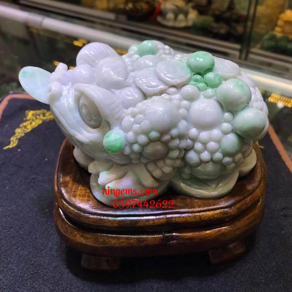 Cóc tài lộc ngọc jadeit