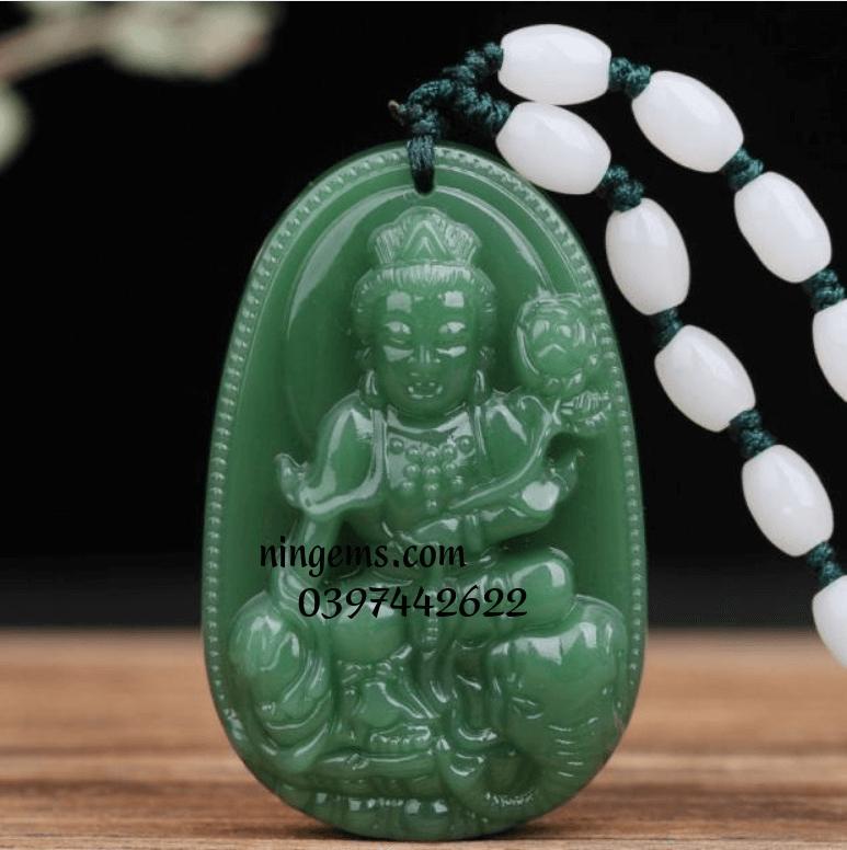 Phật bản mệnh Phổ Hiền Bồ Tát ngọc bích