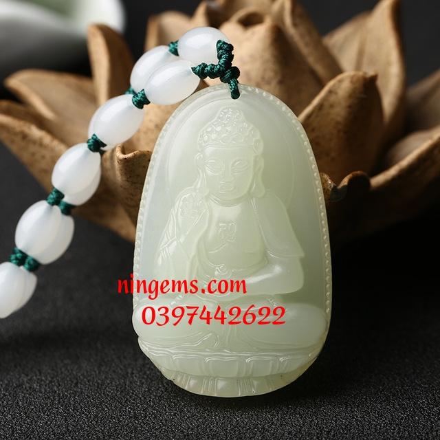 Phật bản mệnh A Di Đà Bạch Ngọc