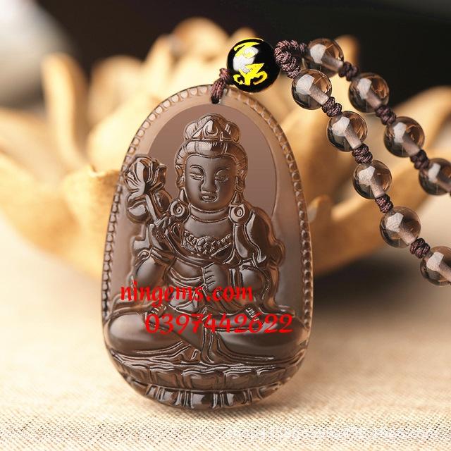 Phật bản mệnh Đại Thế Chí Bồ Tát đá Obsidian khói