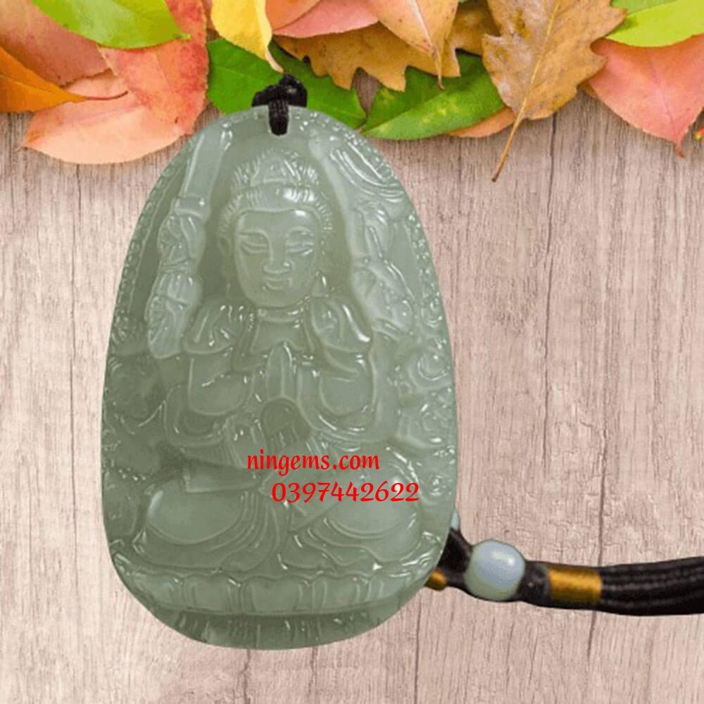Phật bản mệnh Văn Thù Bồ Tát ngọc Jadeit
