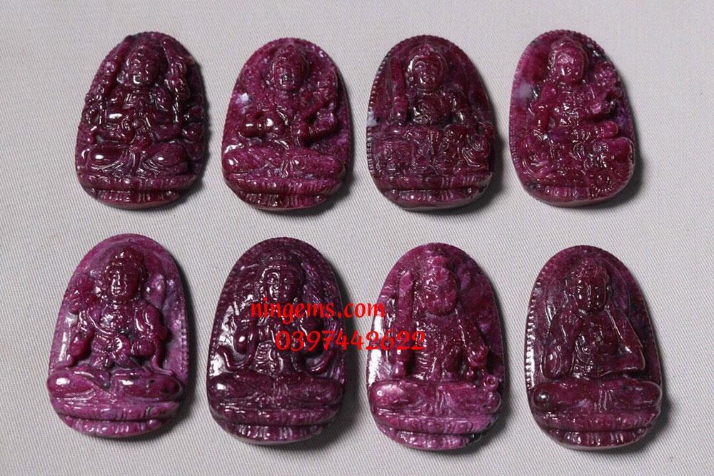 Phật bản mệnh A Di Đà đá ruby