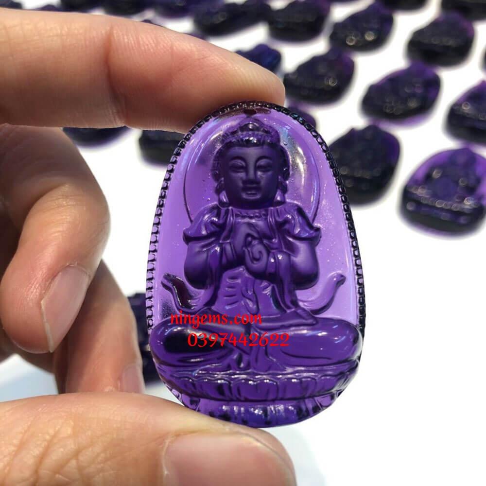 Phật bản mệnh Như Lai Đại Nhật đá thạch anh tím