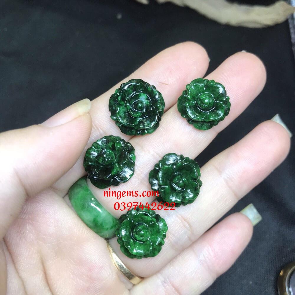 Hoa mẫu đơn ngọc jadeit
