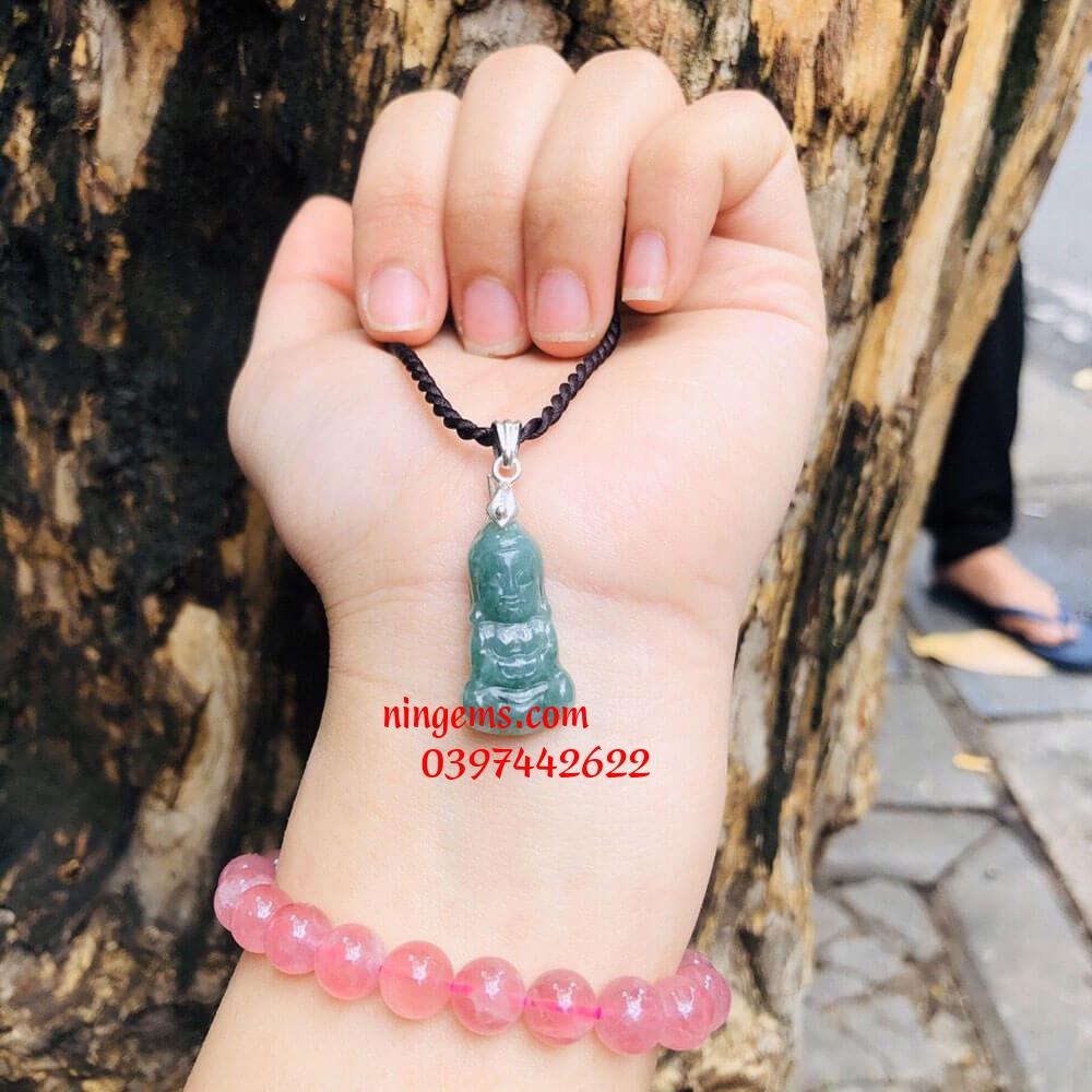 Mặt dây chuyền Phật Tổ ngọc cẩm thạch