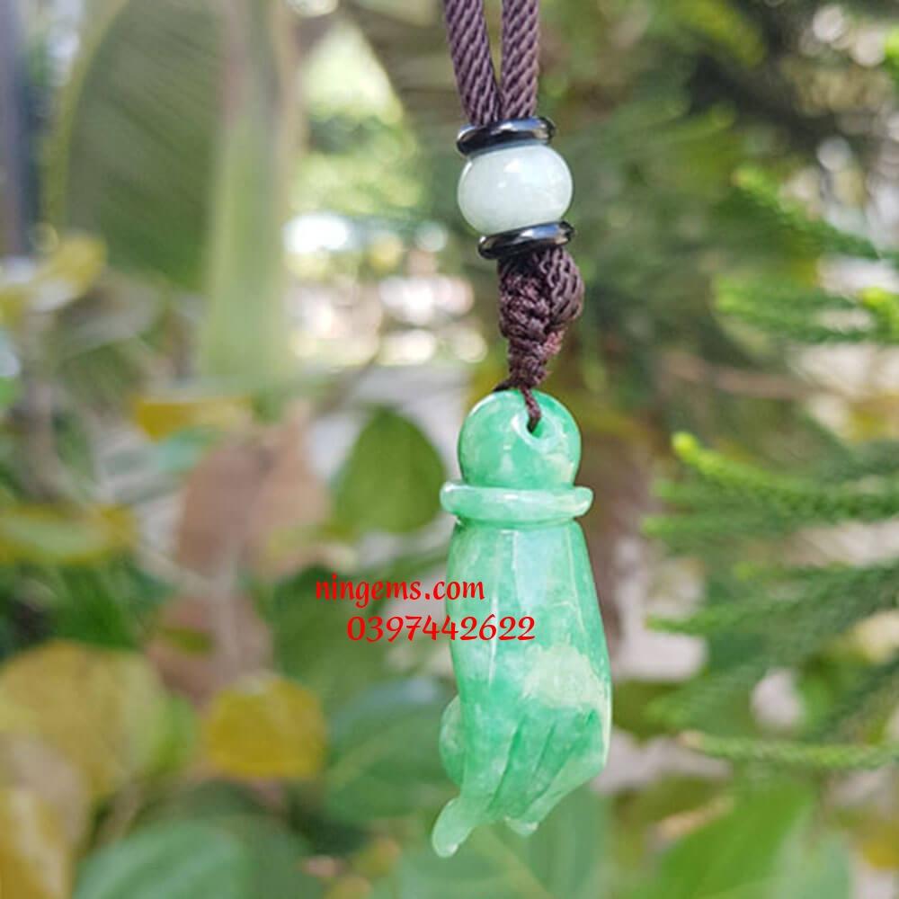 Mặt dây chuyền bàn tay Phật ngọc jadeit