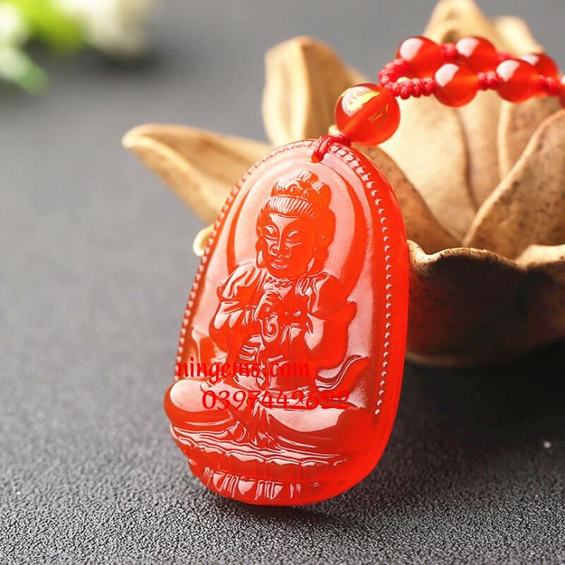 Phật bản mệnh Như Lai Đại Nhật đá mã não đỏ