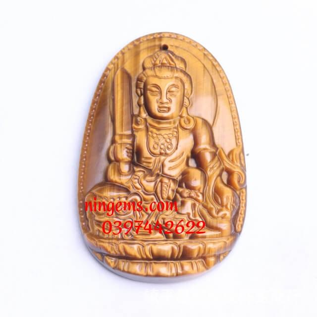 Phật bản mệnh Văn Thù Bồ Tát đá mắt hổ vàng