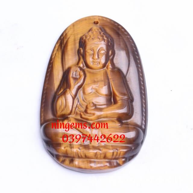Phật bản mệnh A Di Đà đá mắt hổ vàng