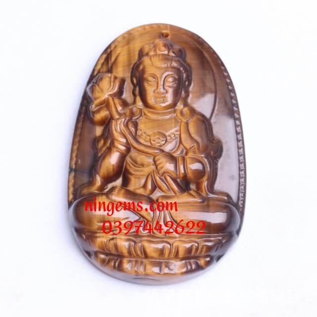 Phật bản mệnh Đại Thế Chí Bồ Tát đá mắt hổ vàng