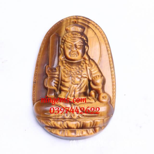 Phật bản mệnh Bất Động Minh Vương đá mắt hổ vàng