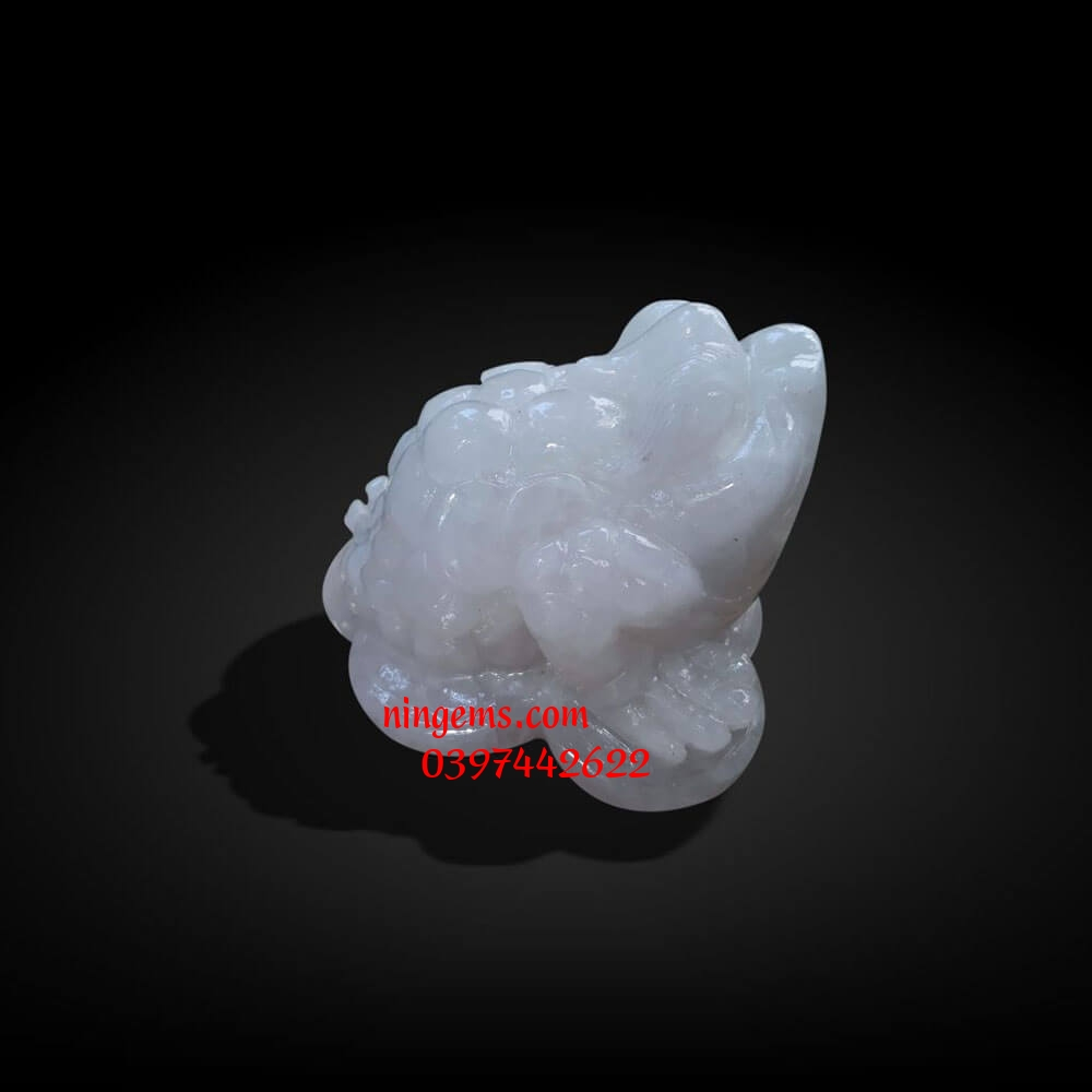 Thiềm Thừ - Cóc tài lộc đá canxit trắng