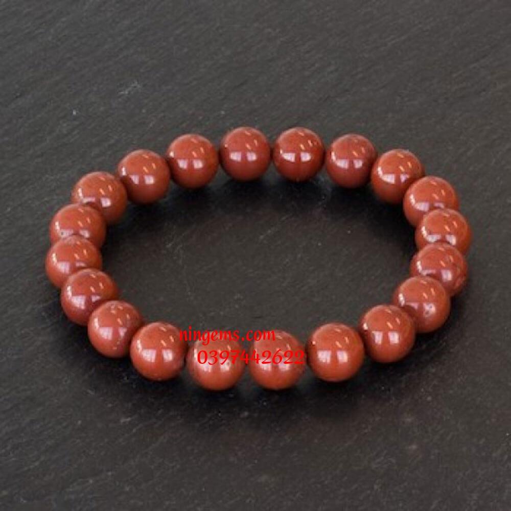 Vòng tay đá jasper màu đỏ