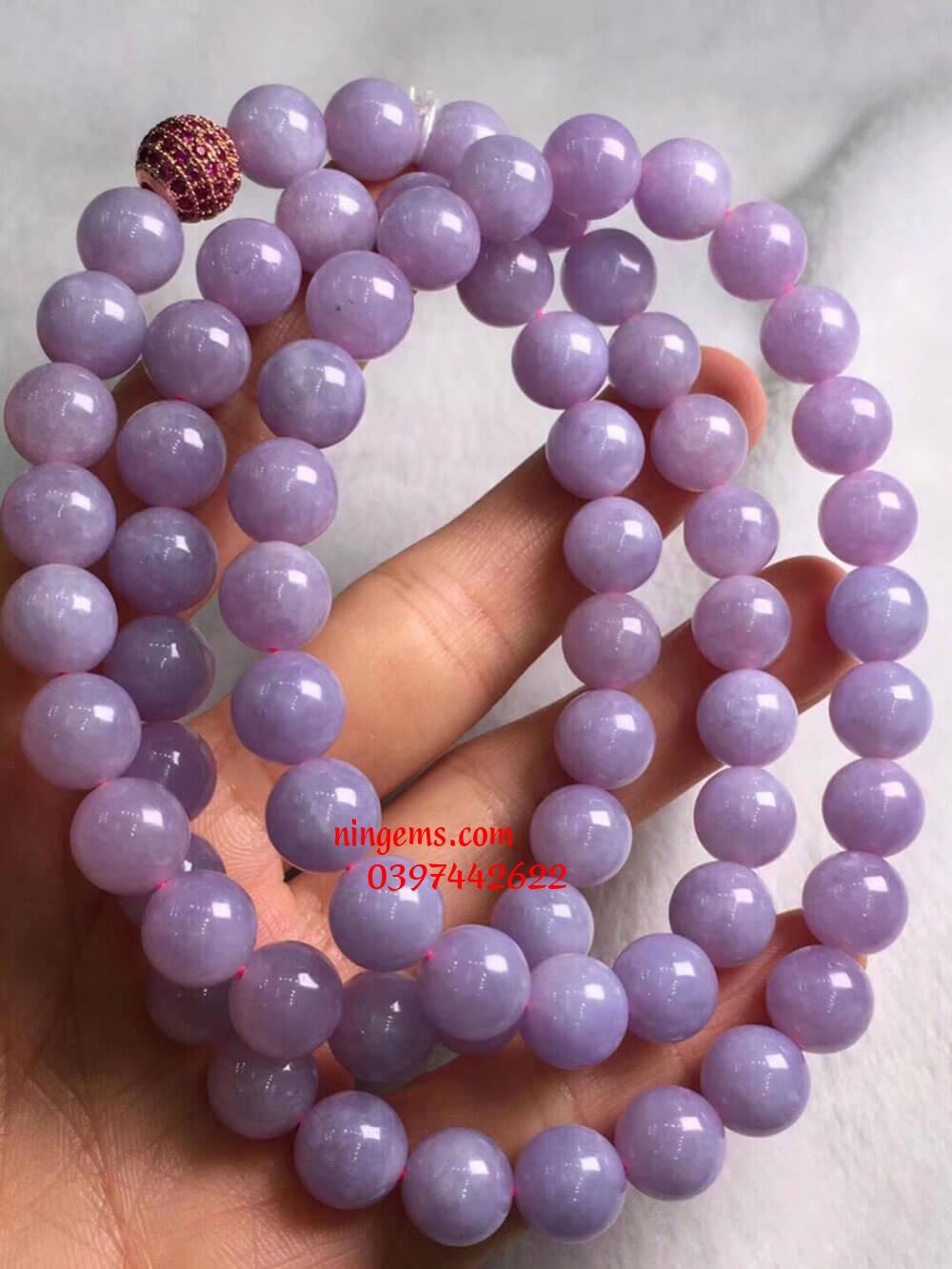 Vòng tay ngọc jadeit hồng