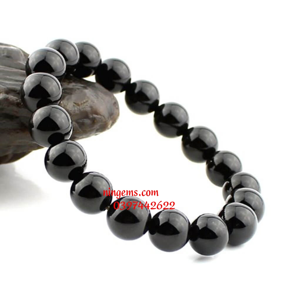 Vòng tay đá onyx đen