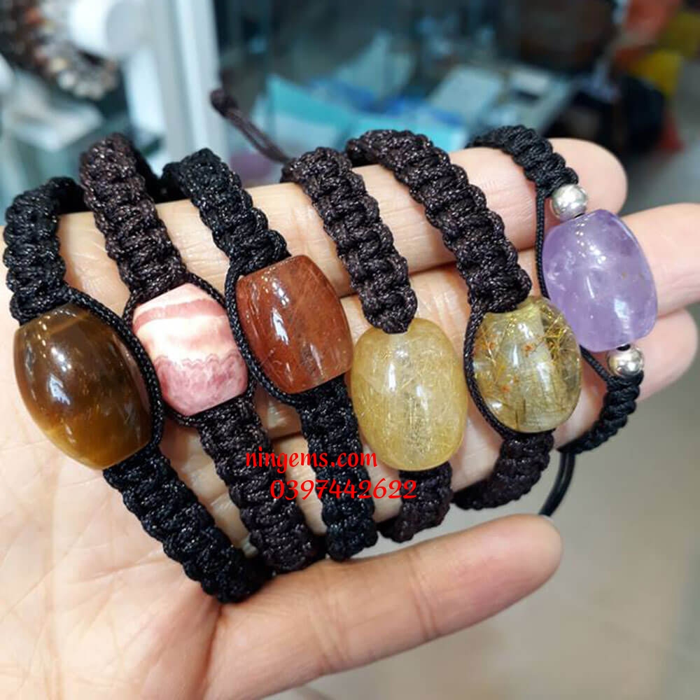 Vòng tay lu thống handmade đá phong thủy