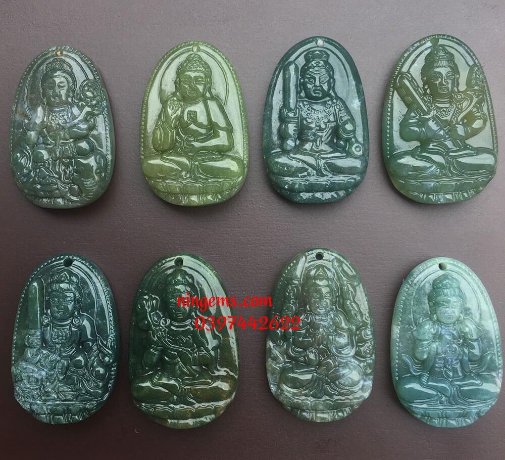 Phật bản mệnh Văn Thù Bồ Tát đá canxedon