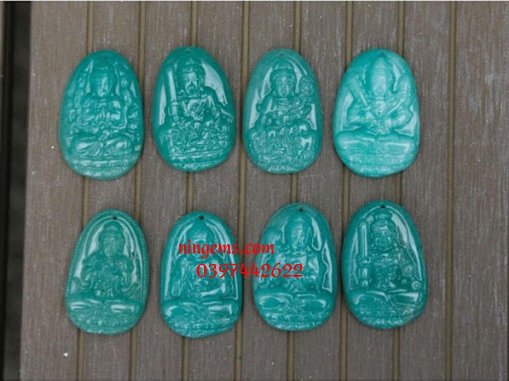Phật bản mệnh Phổ Hiền Bồ Tát đá thạch anh xanh