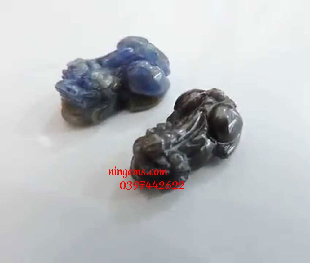 Nhẫn tỳ hưu đá sapphire