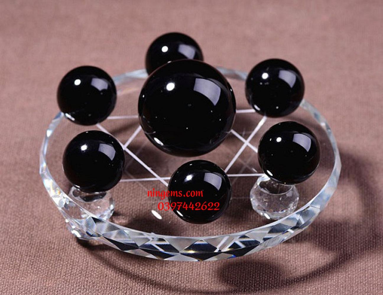 Bộ thất tinh trận đồ đá obsidian | Hắc băng tinh cầu